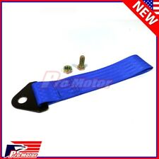 High Strength Sports Racing Tow Strap Set for Front Rear Bumper Towing Hook Blue