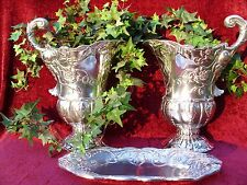 Jane Seymour St.Catherine'S Court Collectible Aluminum Pitchers & Tray Set