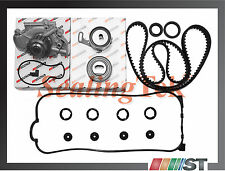 Fit Honda 2.2L F22A F22B SOHC Engine Timing Belt Water Pump Kit w/ Gasket Seals