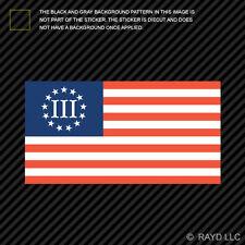 III 3% 3 Percenter Nyberg Flag Sticker Die Cut Decal Self Adhesive Vinyl 2a gun