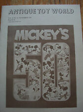 1978 Antique Toy World Magazine Mickey Mouse Iron Fortified Dairy Products