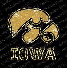 Iowa Hawkeyes - Bling - Iron-on Glitter Vinyl & Rhinestone Transfer Decal