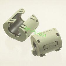 2x TDK Gray Φ13mm Cable Clamp Clip RFI/EMI/EMC Noise Filters Ferrite Case