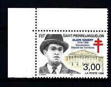 ST. PIERRE E MIQUELON - 1998 - 10° della morte d'Alain Savary, Governatore