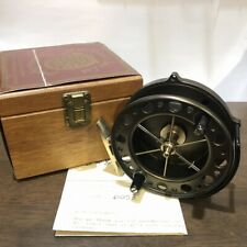J.W. Young centrepin reel The Purist 2030 with wood box