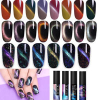 LILYCUTE Magnetic Cat Eye Nail UV Gel Polish Sequins Soak Off Nail Art Varnish