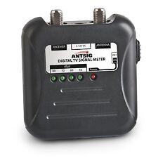 Antsig DIGITAL TV SIGNAL METER + Battery, 2 x F To PAL Adaptor, LED Display