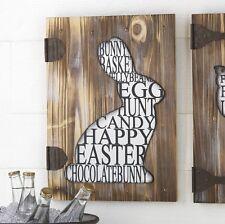 "RAZ Imports~18"" Bunny Wall Art Sign~Rabbit/Easter/Farm Kitchen/Country/Primitive"