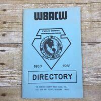 Vintage Call Number Directory Radio Genesee County Club Michigan MI 1981 Flint