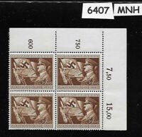 1944 MNH block 10th anniversary Hitler assumes power stamp / Third Reich Germany