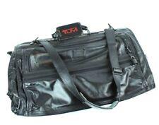 """80s VINTAGE Tumi Black Leather Garment Bag, Carry On EUC PICS Tri-Fold 20 x 40"""""""