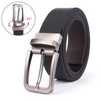 Men's Genuine Leather Pin Buckle Dress Belt Reversible Belt for Men Black/Coffee