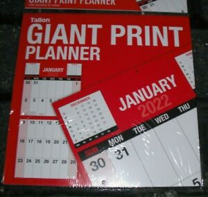 2022 Wall Calendar Easy View Calendar GIANT PRINT Month to View Planner
