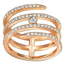 Swarovski Creativity Coiled Ring Gold Finish, Size 7 US, 54 EUR