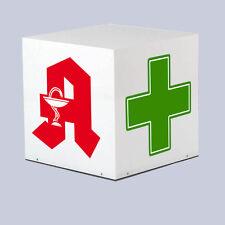 Farmacie in Acrilico Cubo Premium LED illuminato spigolo 700 mm cubo apoleuchtwürfel