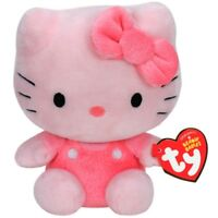 "Ty Beanie Babies - Hello Kitty Pink - Small 6"" Beanies Plush"