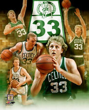 LARRY BIRD 33 FOREVER Boston Celtics Career Collage Premium NBA POSTER Print