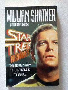 HARPER COLLINS Star Trek Memories William SHATNER Chris KRESKI
