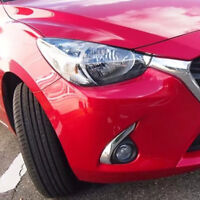 Front Foglamp Light Eyebrows Cover Trim For Mazda 2 Demio DJ 2016-2018 Hatchback
