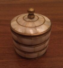 MOTHER OF PEARL and Brass, Vintage Trinket Box, Beautiful!