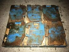 Ford County Tractor Front Wafer Weights set of 6 Original Items