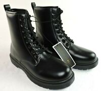 """Charles Albert Womens Size 10 Black Lace Up 8"""" Tall Combat Boots"""