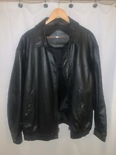 Snap-On Tools Men's Black Leather Jacket size XXL Collectibles Jacket