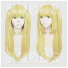 677 Death Note Misa 60cm Blond Cosplay Costume Wig 2pigtails