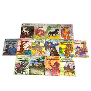 Lot of 14 Moby Illustrated Classic Editions Mini Paperback Books Free Shipping