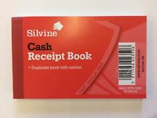 Silvine Receipt Book Duplicate Cash Gummed Receipts 64x102mm Ref 228 - 1 book