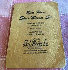 Ball Point Skil-Weaver Set Skil-Weave Co. Invisible Reweaving Orig Packaging