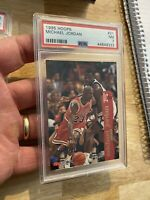 Michael Jordan PSA 7 NBA Hoops 1995 #21 Chicago Bulls INVESTMENT Goat 🐐 NR