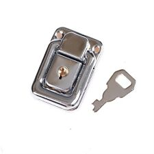 J402 Cabinet Box Square Lock With Key Spring Latch Catch Toggle Locks Hasp H&T