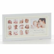 My First Year Photo Frame (Gloss White) Ideal Baby Gift NEW  26573