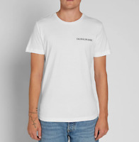 Calvin Klein Men's Institutional Chest Logo Slim Fit T-Shirt White
