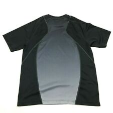 Fila Dry Fit Shirt Size Medium Black Gray Tee Fitness Workout Athletic Leisure
