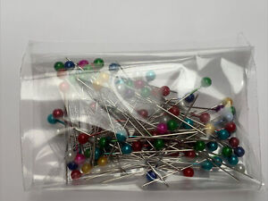 100 Sewing Pins 38mm Glass Ball Head Quilting Dressmaking Embroidery