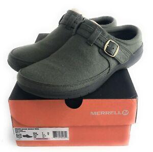 Merrell - Encore Kassie Buckle Wool Mules Dusty Olive Women's Size US 7M