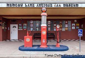 Antique Gas Pumps at Car Museum, Pecos, Texas - Giclee Photo Print