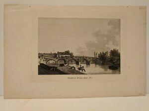 1787 J. Newton: Maidstone Bridge, Kent Pl 2 - original copperplate engraving