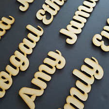 Non Script Letters Names Words Personalised 200mm Wedding Book Art Crafts MDF 2