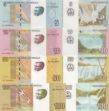 Angola 4 Note Set: 5 to 100 Kwanza (2012) - p151A, p151B, p152 & p153 UNC
