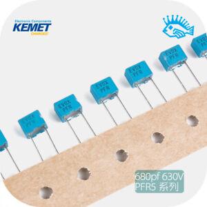 10/100pcs KEMET EVOX RIFA PFR5 680pf 630V non-polar film capacitor