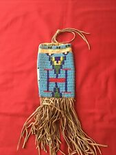 Antique Sioux Native American Beaded Tobacco Pouch Pipe Bag c. 1880
