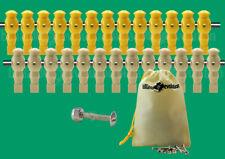 "13 Yellow/13 Tan Robotic Tournament Soccer Foosball Men - 5/8"" Rod + Screws/Nuts"