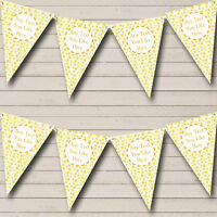 Yellow And Gold Stars Welcome Home New Baby Bunting Banner Garland