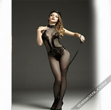 Netz Body ganz Nylons Catsuit Strumpfhose Stocking Dessous Reizwäsche S M L 24€