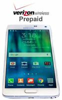 Unlocked Samsung Galaxy Note 4 - 32GB - White No Contract Verizon Prepaid Phone