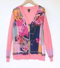 TRICOT CHIC made in ITALY PINK FLORAL SWEATER CARDIGAN PLUS SIZE 16