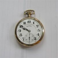 Illinois 19 j Railroad Watch 3 pos. Gold Filled Case Double Roller 16 size 1921